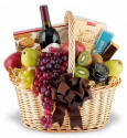 Elegance To Spare Fruit and Wine Basket