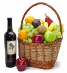 Classic Wine and Fruit Basket 109.95