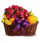 Fruit and Blooms Basket