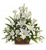 White Lilies Sympathy Flowers