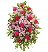 Pink Floral Tribute Spray