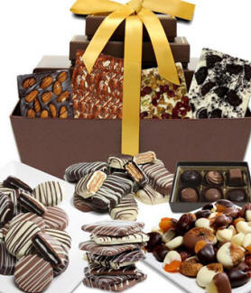 Chocolate Snacks Gift Basket